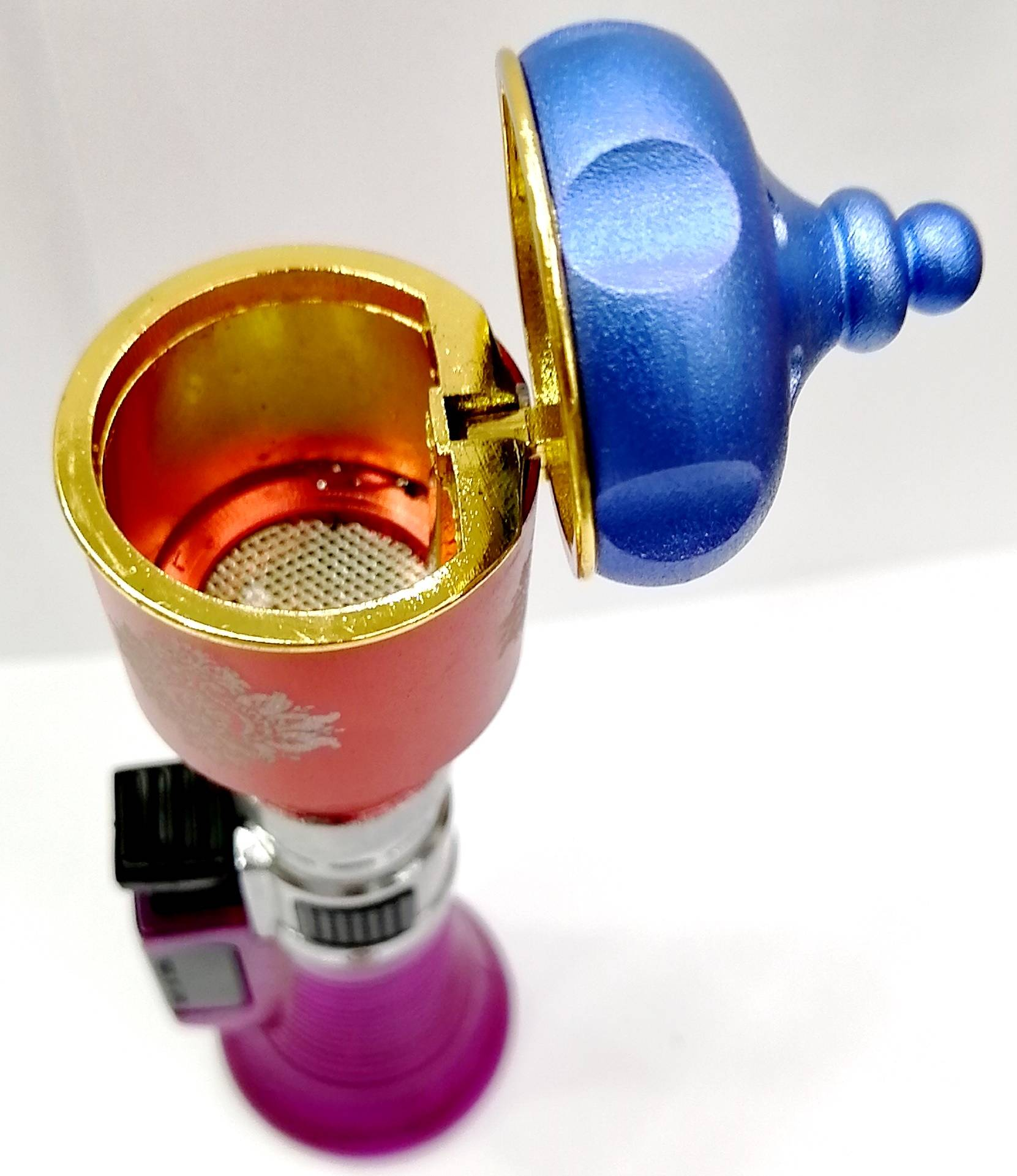 Arabic Hand Held Bakhoor Burner Gas Lighter type Brass Portable Mini Incense Burner Dukhoon Bukhoor (Ready Stock)