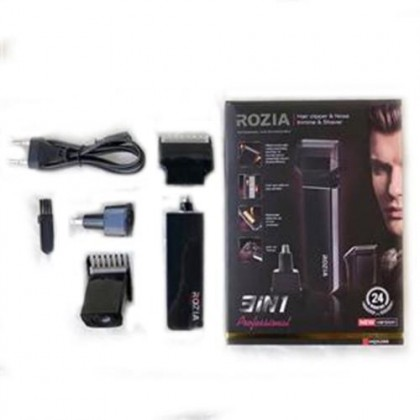 ROZIA HQ 5200 RECHARGEABLE HAIR CLIPPER & NOSE TRIMMER & SHAVER 3 in 1